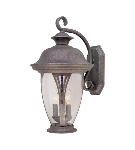 Designers Fountain Westchester 3 Light Outdoor Wall Lantern in Rust Silver 30531-RS