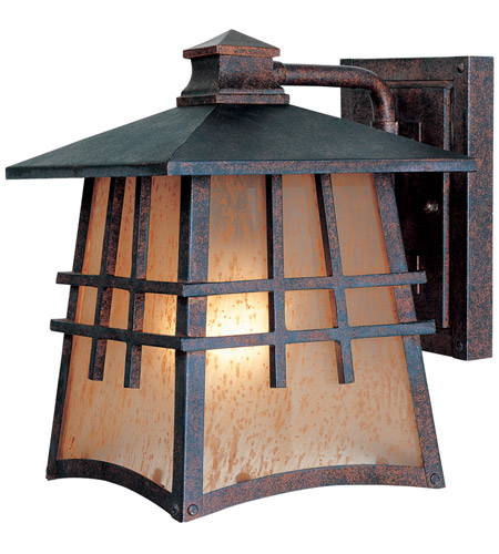 Designers Fountain Oak Park 1 Light Outdoor Wall Lantern in Mediterranean Patina 30701-MP photo