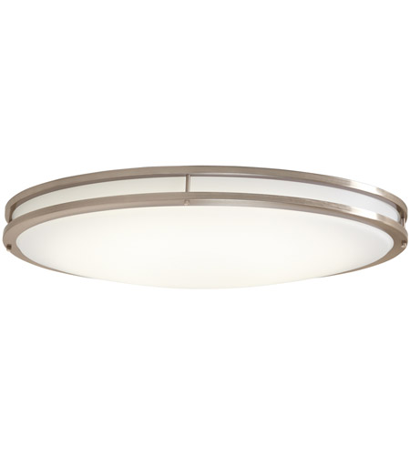 low priced c73f8 a8db3 Oval LED 33 inch Brushed Nickel Flushmount Ceiling Light