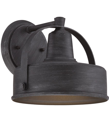 designers fountain 33121 wp portland 1 light 8 inch weathered pewter