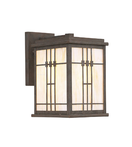 Designers Fountain Mission Style A 1 Light Outdoor Wall Lantern in Distressed Bronze 3432-DB photo