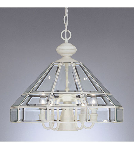 Designers Fountain Heritage 5 + 1 Light Pendant in White 3639DL-WH photo