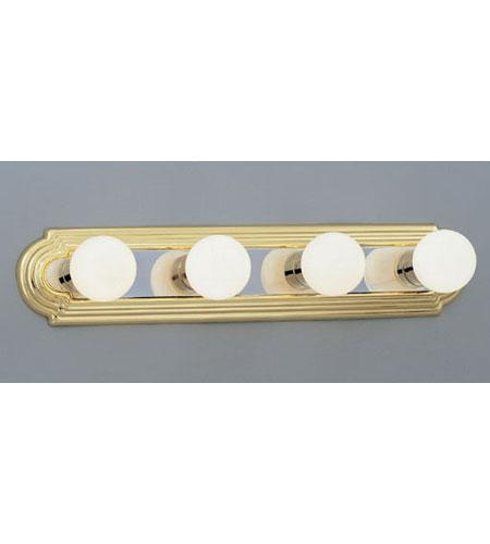 Designers Fountain Economy Decorative Lighting 4 Light Vanity Strip in Chrome & Brass 4154-CHB photo