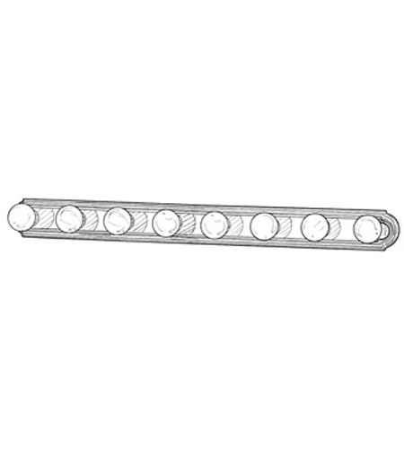 Designers Fountain Economy Decorative Lighting 8 Light Vanity Strip in Chrome 4158-CH photo