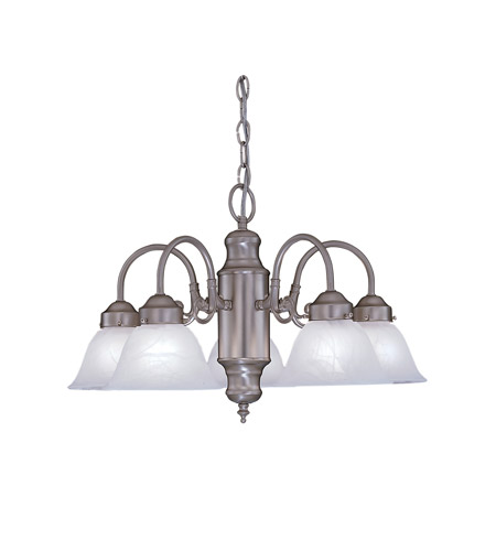 Designers Fountain Bistro 5 Light Chandelier in Pewter 4208-AL-PW photo