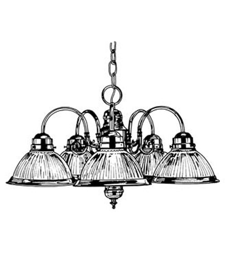 Designers Fountain Prismatic 5 Light Chandelier in White 4208-WH photo