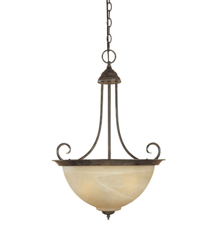 Designers Fountain Bistro 3 Light Pendant in Warm Mahogany 4253-AT-WM photo