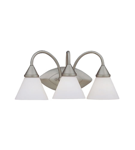 Designers Fountain Ultra 3 Light Bath Bar in Pewter 4493-PW photo