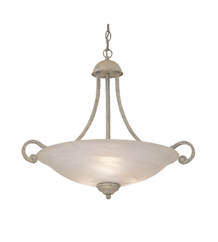 Designers Fountain Continental 3 Light Pendant in Florentine Sand 5463-FS photo