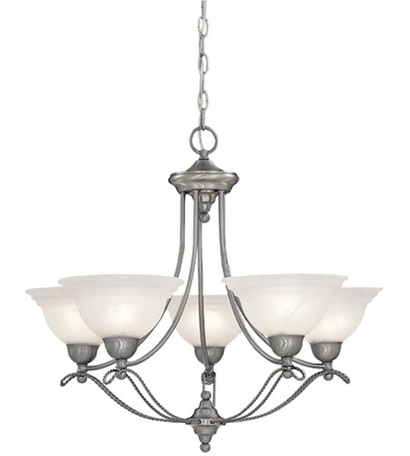 Designers Fountain 5695-PW Palladium 5 Light 27 inch Pewter Chandelier Ceiling Light photo
