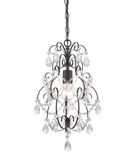 designers fountain 6204orb flora 1 light 14 inch oil rubbed bronze mini chandelier ceiling light