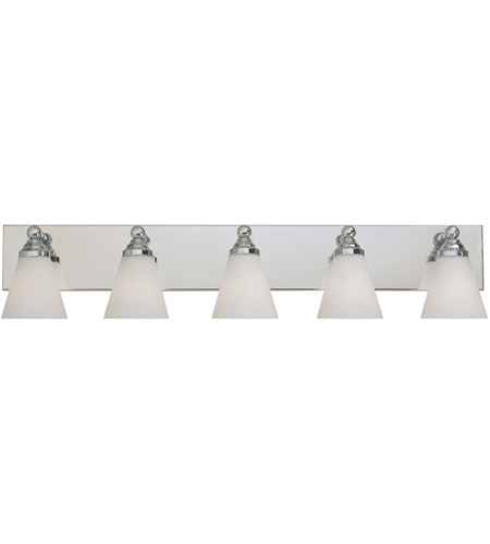 Designers Fountain 6495-CH Hudson 5 Light 38 inch Chrome Bath Bar Wall Light photo