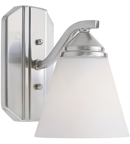Designers Fountain 6601-SP Piazza 1 Light 6 inch Satin Platinum Wall Sconce Wall Light in Frosted White photo