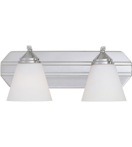 Designers Fountain 6602-SP Piazza 2 Light 17 inch Satin Platinum Bath Bar Wall Light in Frosted White photo