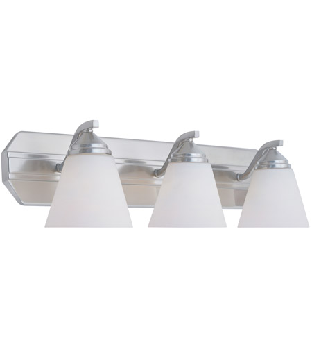 Designers Fountain 6603-SP Piazza 3 Light 24 inch Satin Platinum Bath Bar Wall Light in Frosted White photo