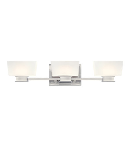 Designers Fountain 6683-SP Geneva 3 Light 24 inch Satin Platinum Bath Bar Wall Light photo