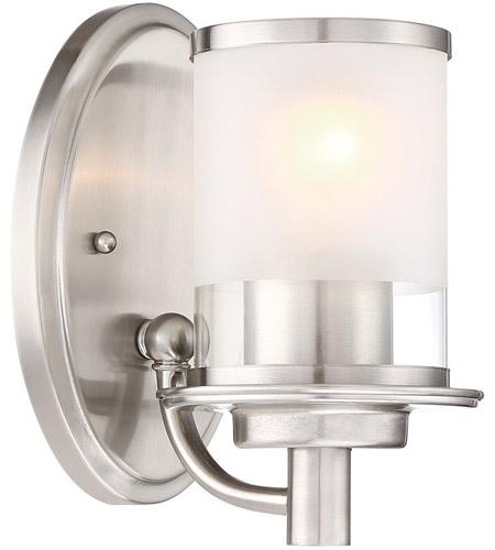 Designers Fountain 6691 Sp Essence 1 Light 5 Inch Satin Platinum Wall Sconce