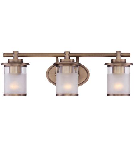 Designers Fountain 6693 Osb Essence 3 Light 23 Inch Old Satin Brass Vanity Light Wall Light