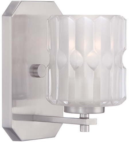 Designers Fountain 67601-SP Valeta 1 Light 5 inch Satin Platinum Wall Sconce Wall Light