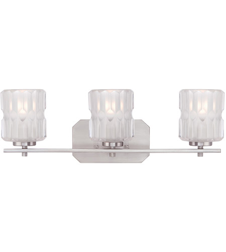 Designers Fountain 67603-SP Valeta 3 Light 23 inch Satin Platinum Bath Bar Wall Light 67603-SP.jpg