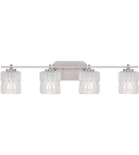 Designers Fountain 67604-SP Valeta 4 Light 32 inch Satin Platinum Bath Bar Wall Light