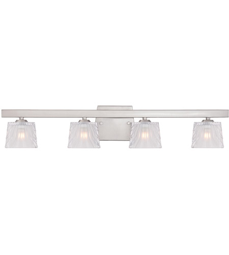 Designers Fountain 68104-SP Volare 4 Light 28 inch Satin Platinum Bath Bar Wall Light