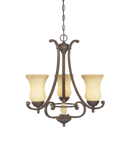 Designers Fountain Salerno 3 Light Chandelier in Ancient Oak 81083-AO photo