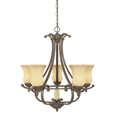 Designers Fountain Salerno 5 Light Chandelier in Ancient Oak 81085-AO photo