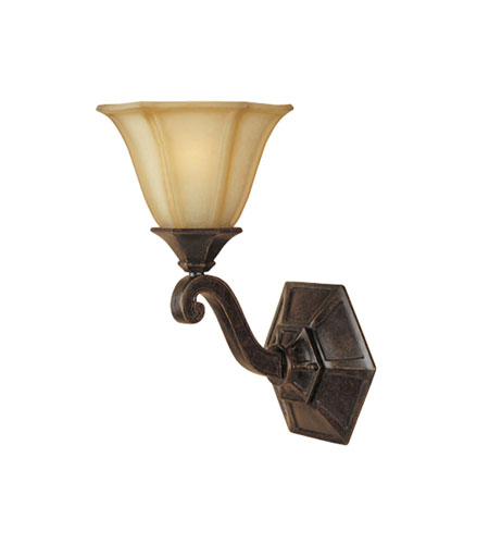 Designers Fountain Olympia 1 Light Wall Sconce in Imperial Walnut 81101-IW photo