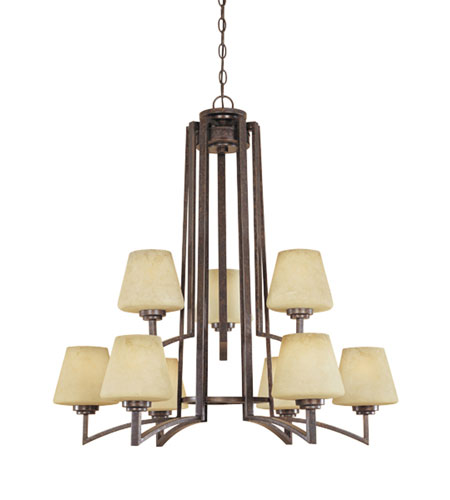 Designers Fountain Antigua 9 Light Chandelier in Burnt Umber 81489-BU photo