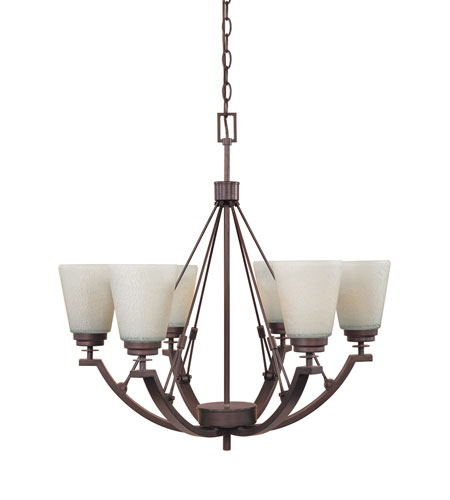 Designers Fountain Harlow 6 Light Chandelier in Tuscana 81686-TU photo