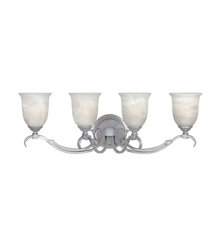 Designers Fountain Montague 4 Light Bath Bar in Matte Pewter 81704-MTP photo