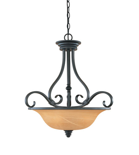 Designers Fountain Montague 3 Light Pendant in Burnished Bronze 81731-BNB photo