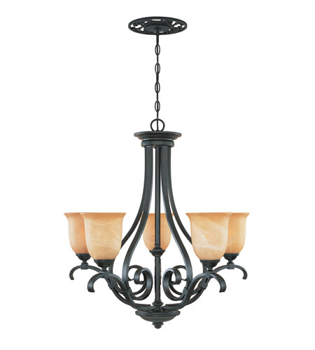 Designers Fountain Montague 5 Light Chandelier in Burnished Bronze 81785-BNB photo