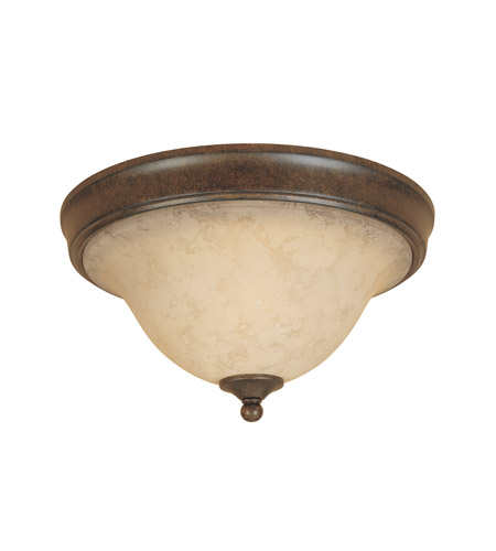 Designers Fountain 81821-FSN Mendocino 2 Light 15 inch Forged Sienna Flushmount Ceiling Light photo