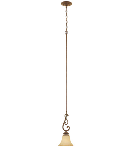Designers Fountain 81830-FSN Mendocino 1 Light 7 inch Forged Sienna Mini Pendant Ceiling Light photo