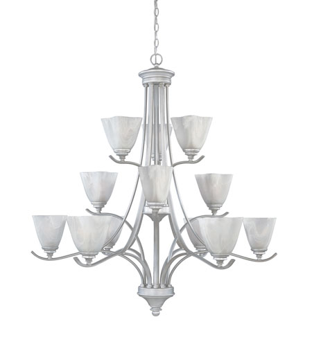 Designers Fountain 819812-MTP Bella Vista 12 Light 38 inch Matte Pewter Chandelier Ceiling Light photo
