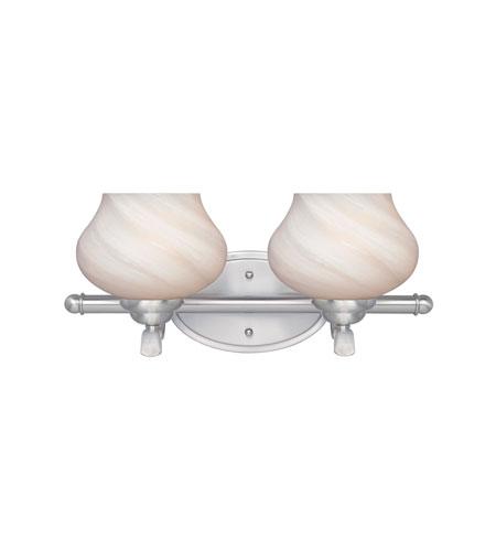 Designers Fountain Moon Shadow 2 Light Bath Bar in Satin Platinum 82002-SP photo
