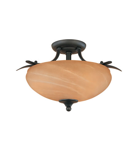 Designers Fountain Moon Shadow 2 Light Semi-Flush in Burnished Bronze 82011-BNB photo