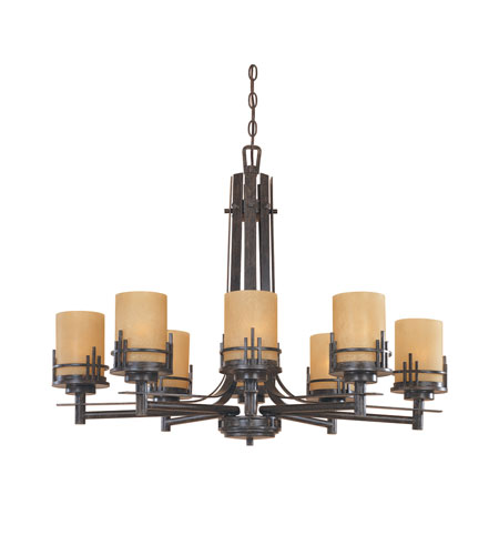 Designers Fountain Mission Ridge 8 Light Chandelier in Warm Mahogany 82188-WM photo