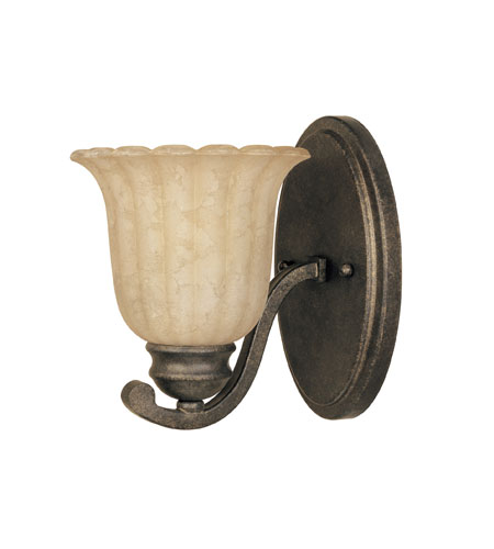 Designers Fountain Radford 1 Light Wall Sconce in Forged Sienna 82601-FSN photo
