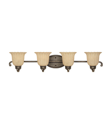 Designers Fountain Radford 4 Light Bath Bar in Forged Sienna 82604-FSN photo