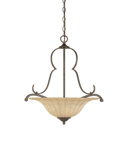 Designers Fountain Radford 3 Light Pendant in Forged Sienna 82631-FSN photo