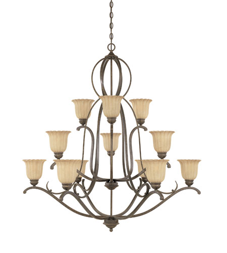 Designers Fountain Radford 12 Light Chandelier in Forged Sienna 826812-FSN photo