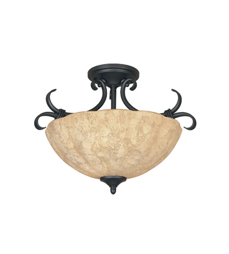 Designers Fountain Vicente 2 Light Semi-Flush in Burnished Bronze 82711-BNB
