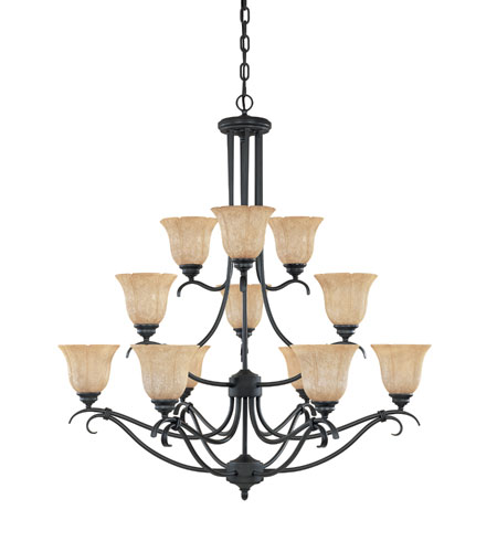 Designers Fountain Vicente 12 Light Chandelier in Burnished Bronze 827812-BNB photo