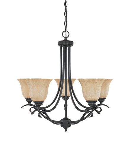 Designers Fountain Vicente 5 Light Chandelier in Burnished Bronze 82785-BNB