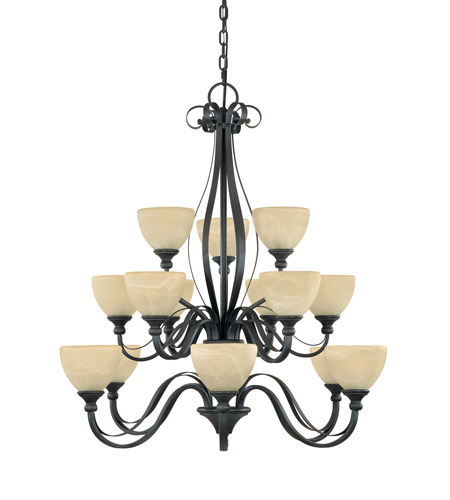 Designers Fountain Del Amo 15 Light Chandelier in Burnished Bronze 828815-BNB photo