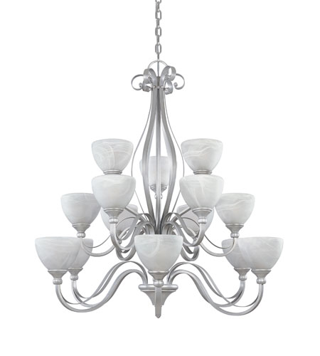 Designers Fountain Del Amo 15 Light Chandelier in Matte Pewter 828815-MTP photo