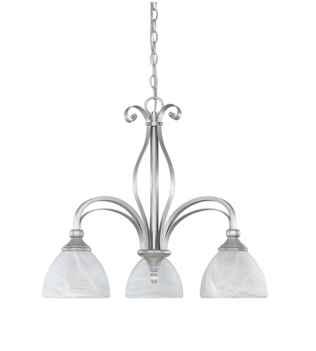 Designers Fountain Del Amo 3 Light Chandelier in Matte Pewter 82883-MTP photo
